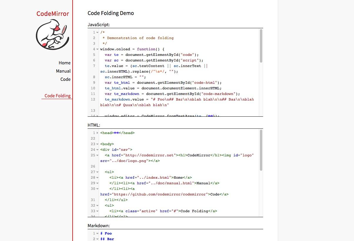 CodeMirror – transform textarea into a code editor