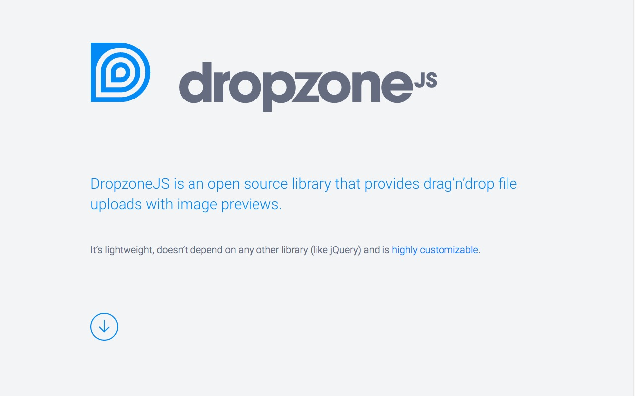 DropzoneJS – drag'n'drop file uploads with image previews