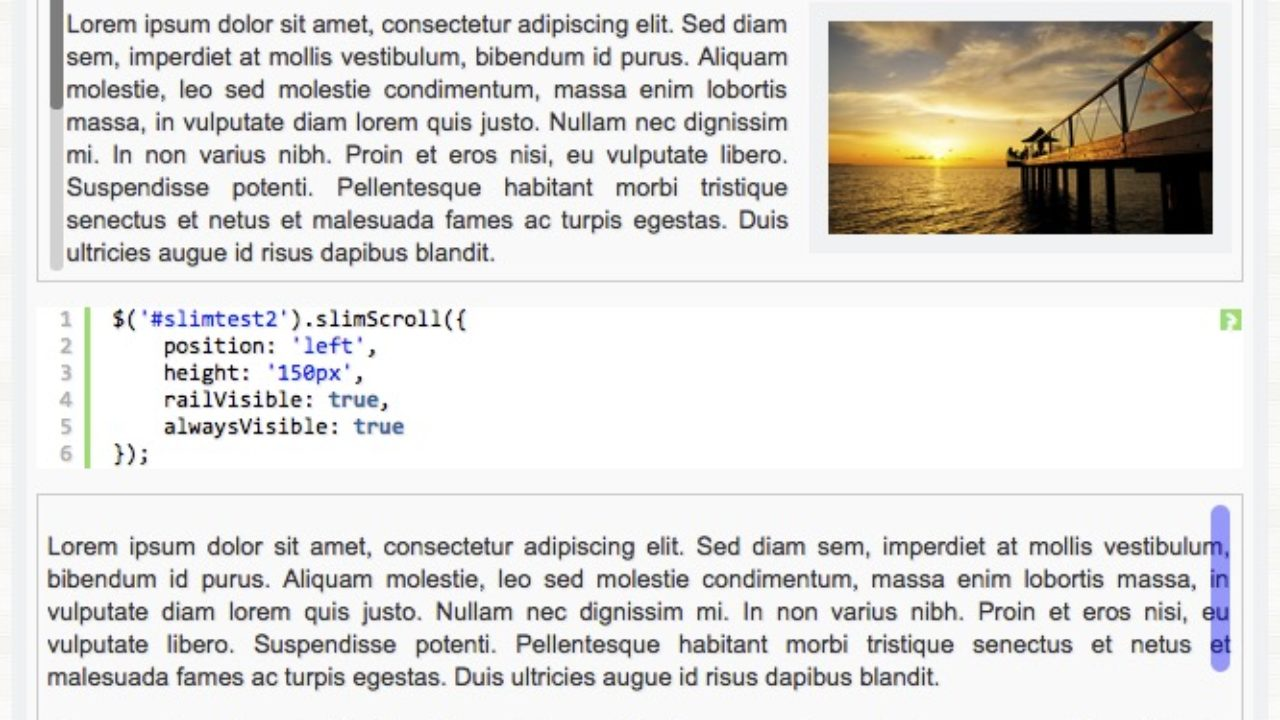 Fullpage js / enhance SlimScroll to detect visible content