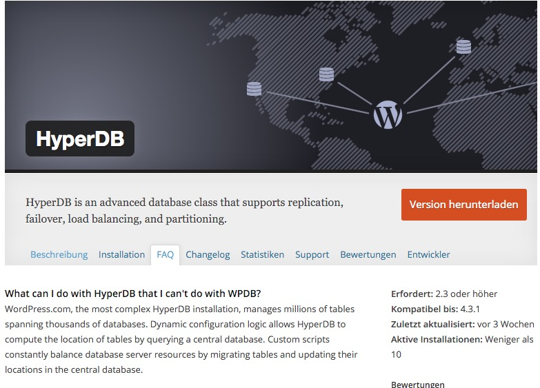 HyperDB – replication, failover, load balancing, and partitioning for WordPress