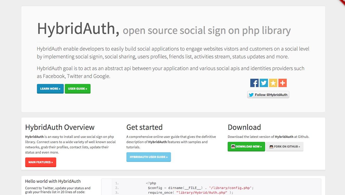 Hybridauth 3.0 Remake – social logins made easy