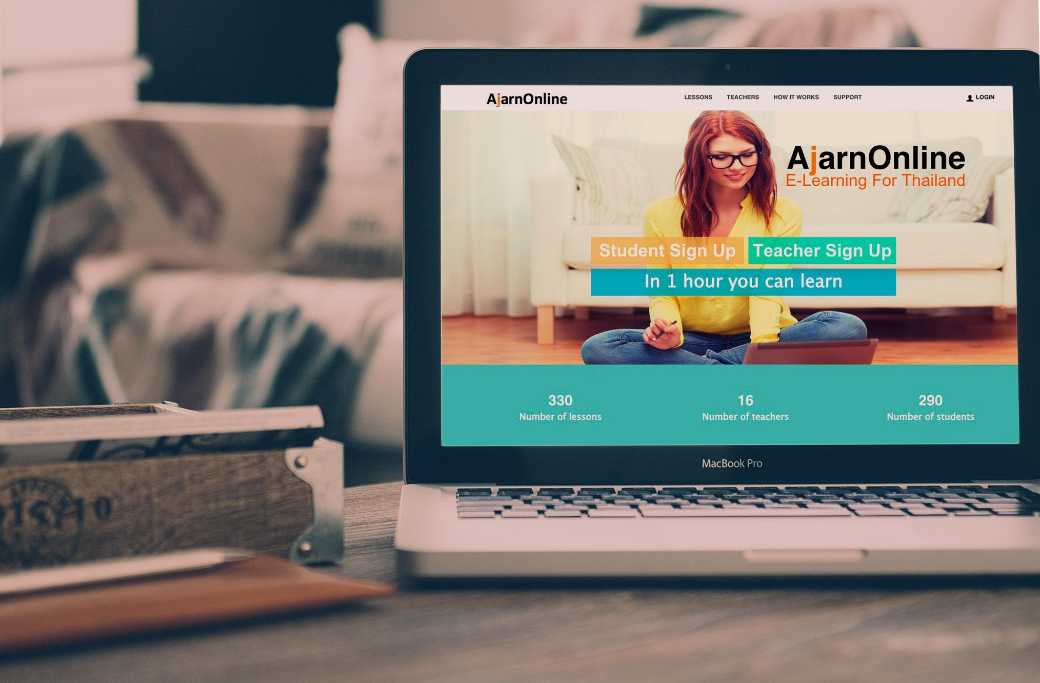AjarnOnline E-Learning for Thailand