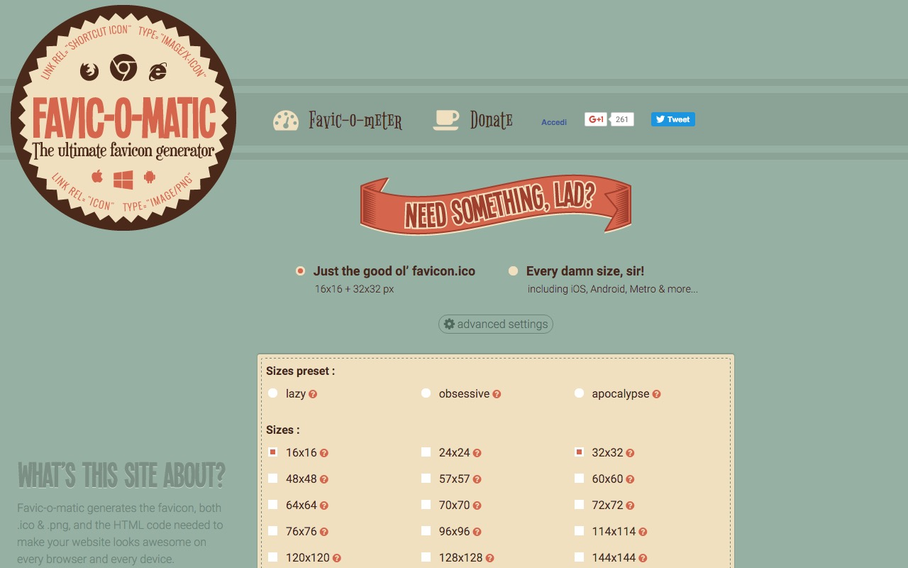 Favic-o-matic … your own favicon in every flavour