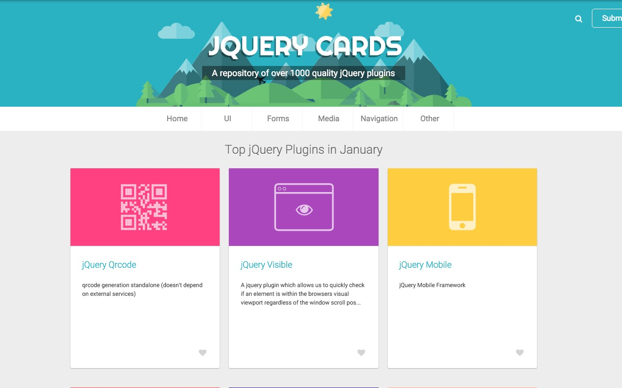 jQuery Cards – collection of jQuery plugins