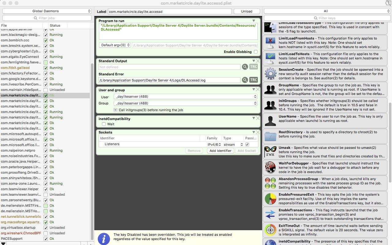 LaunchControl – launchd Mac OSX GUI