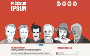 PICKSUM IPSUM – bring some hollywood coolness to your boring lorem ipsum