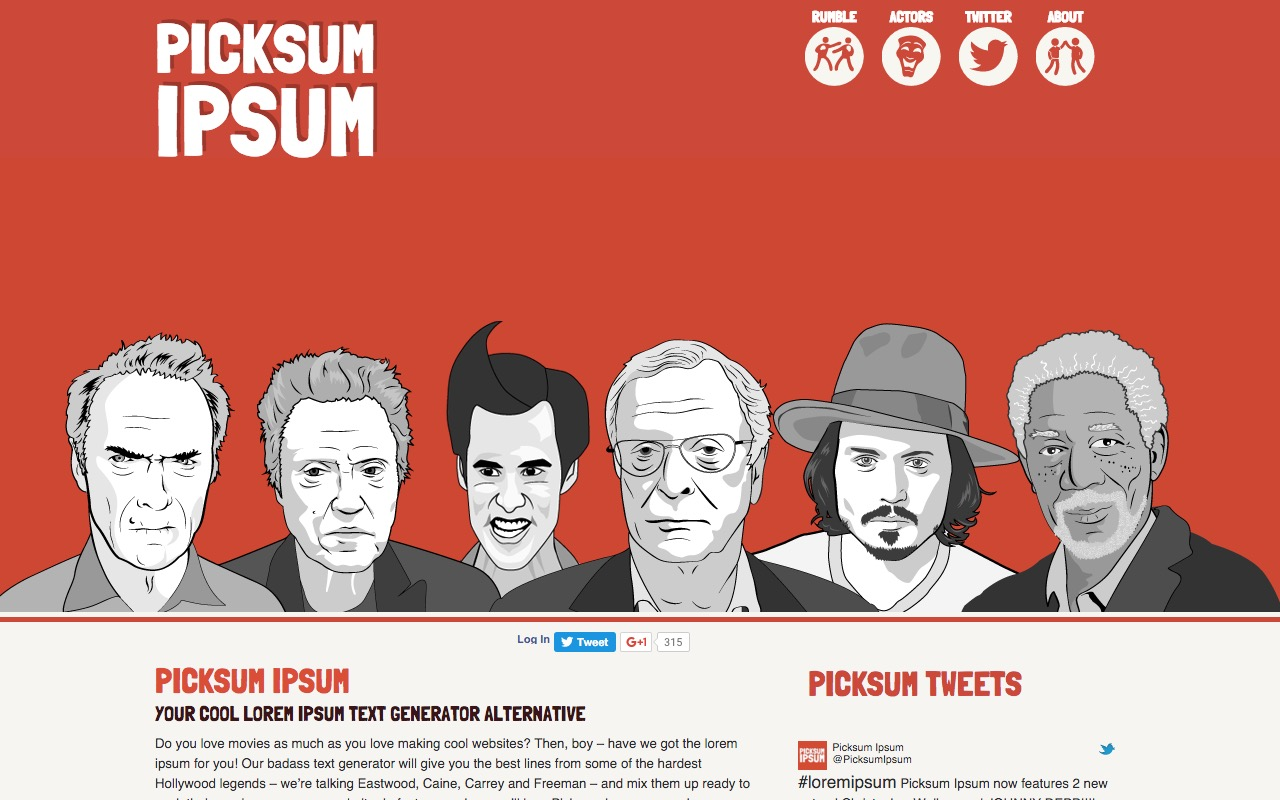 PICKSUM IPSUM – bring some hollywood coolness to your boring lorem ipsum