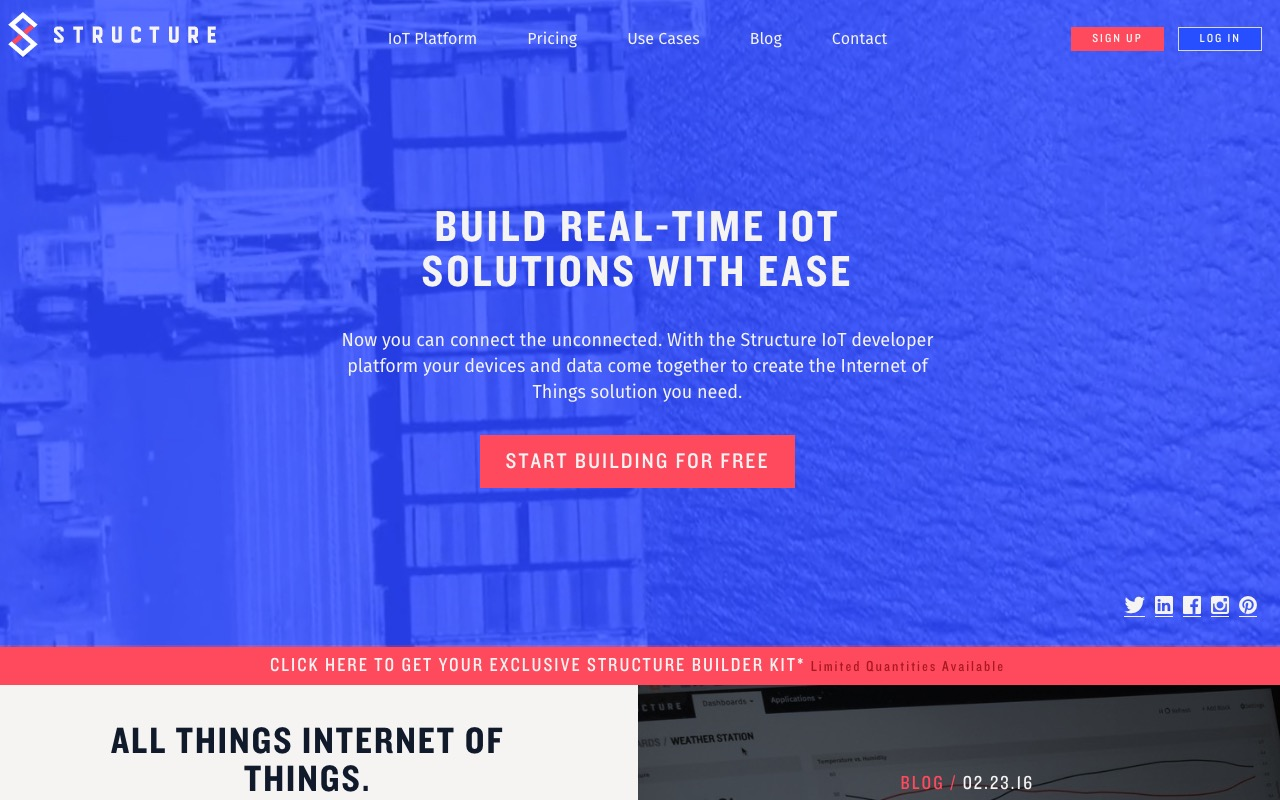 Structure – IoT platform that connects devices and data