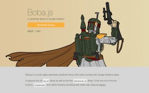 Use Boba.js to make work with Google Analytics easier