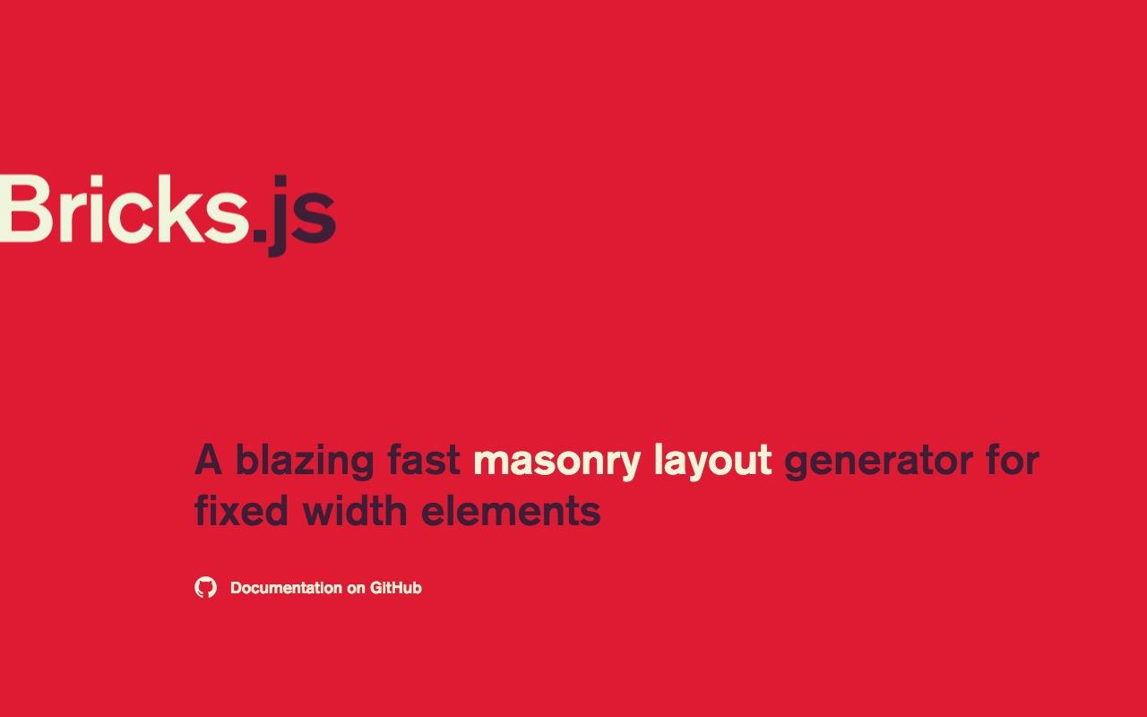 Blazing fast masonry layout with Brick js