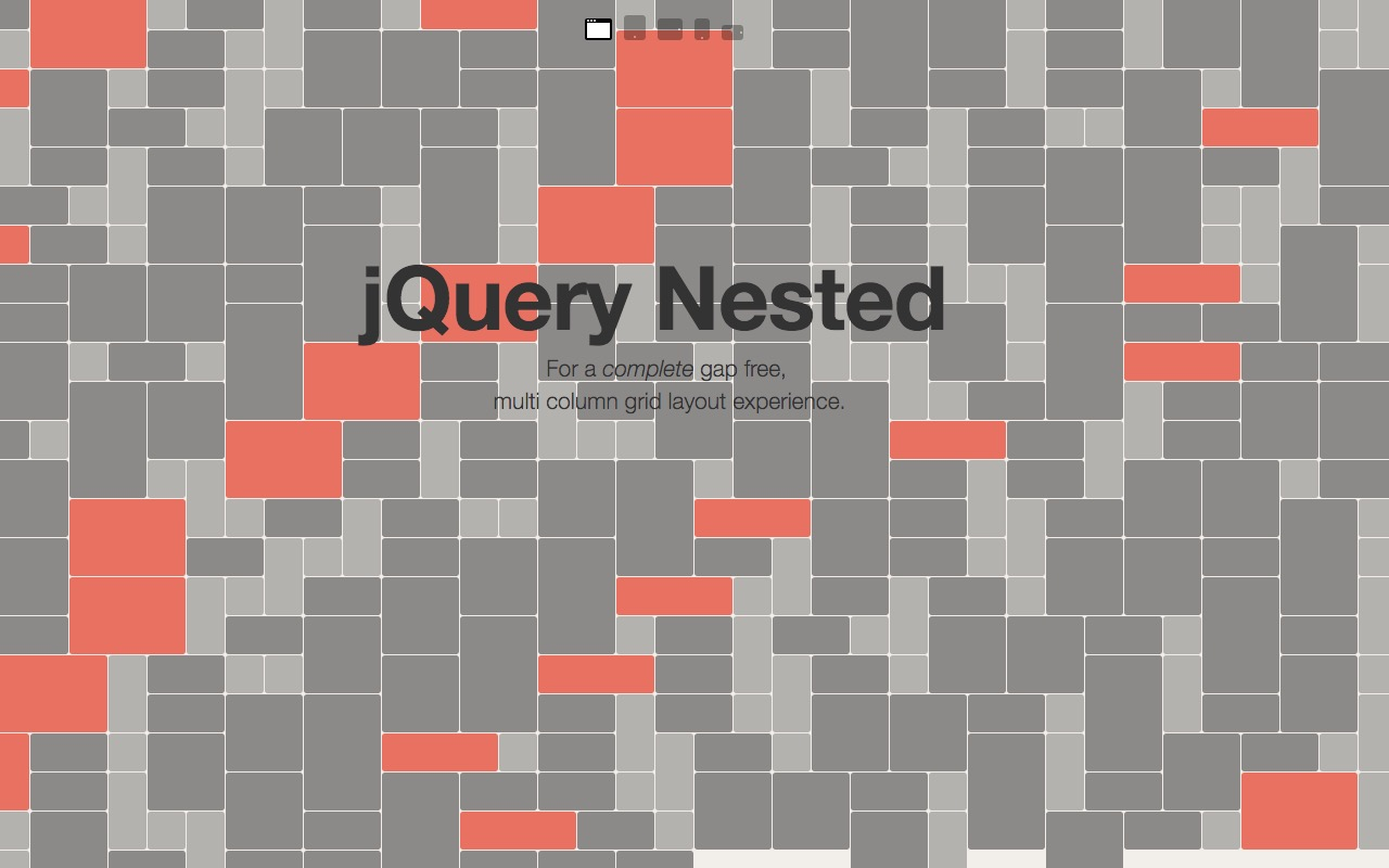 Build a complete gap free &  multi column grid layout with Nested