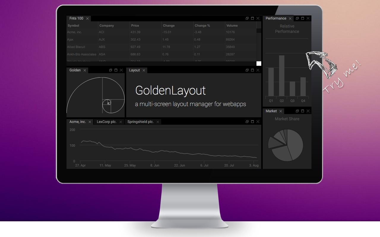 Docker layouts with GoldenLayout