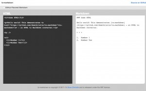 to-markdown – Node.js HTML to Markdown converter