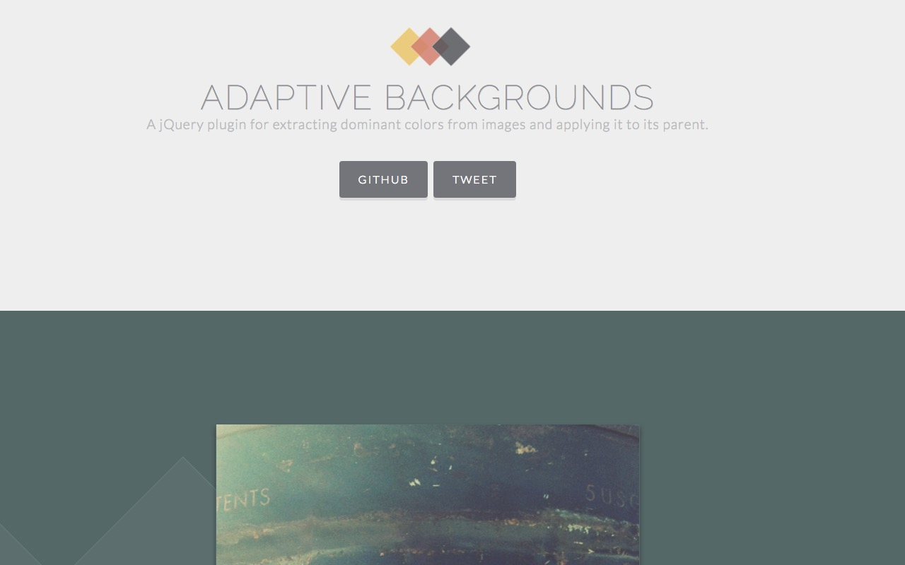 Extract dominant image color and apply it to its parent with Adaptive Backgrounds