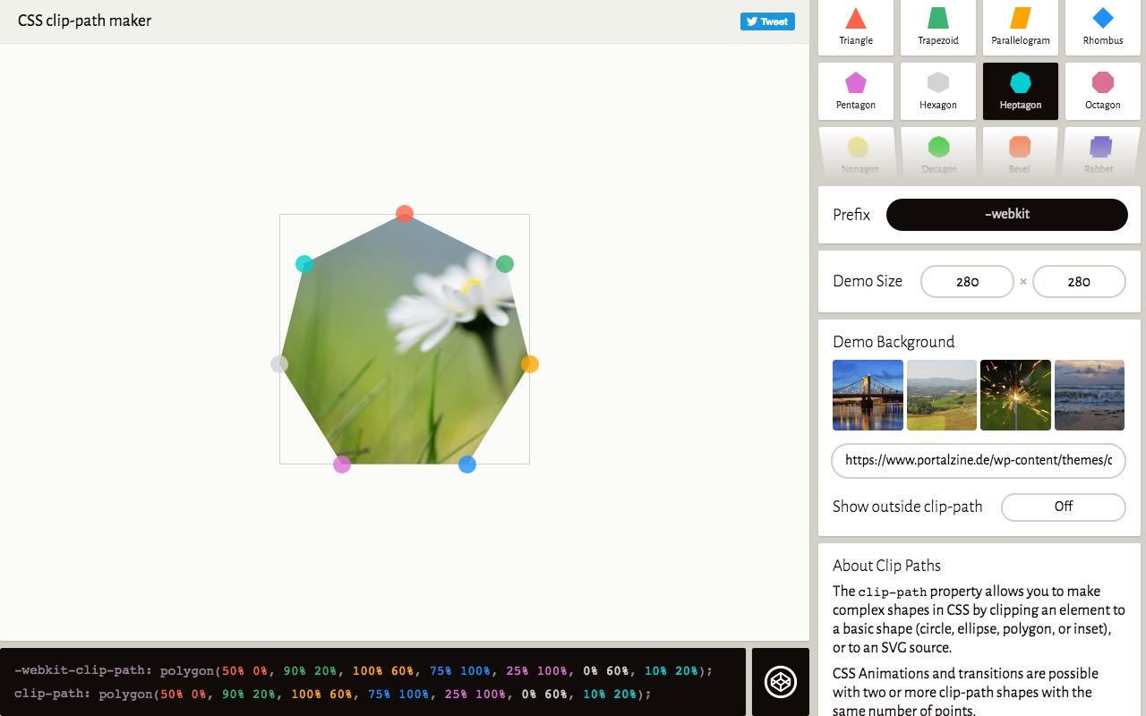 Clippy the CSS clip-path maker