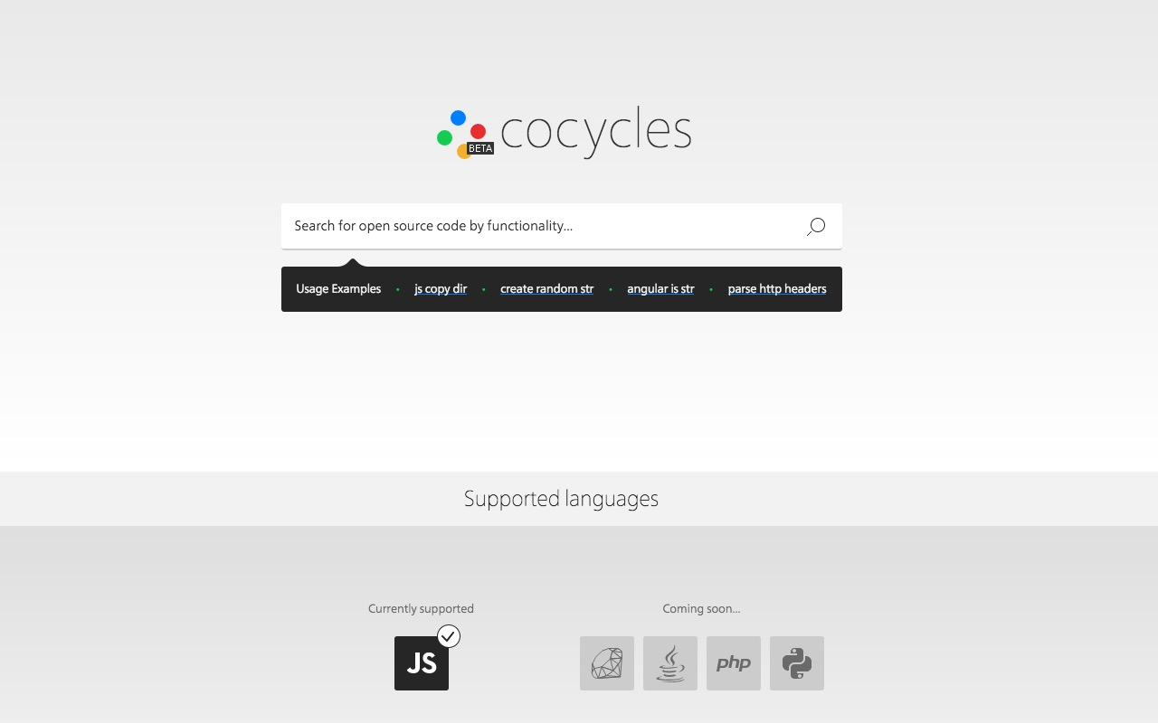 Search for open source code by functionality with Cocycles Beta