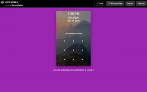 Create a lockscreen with patternLock.js