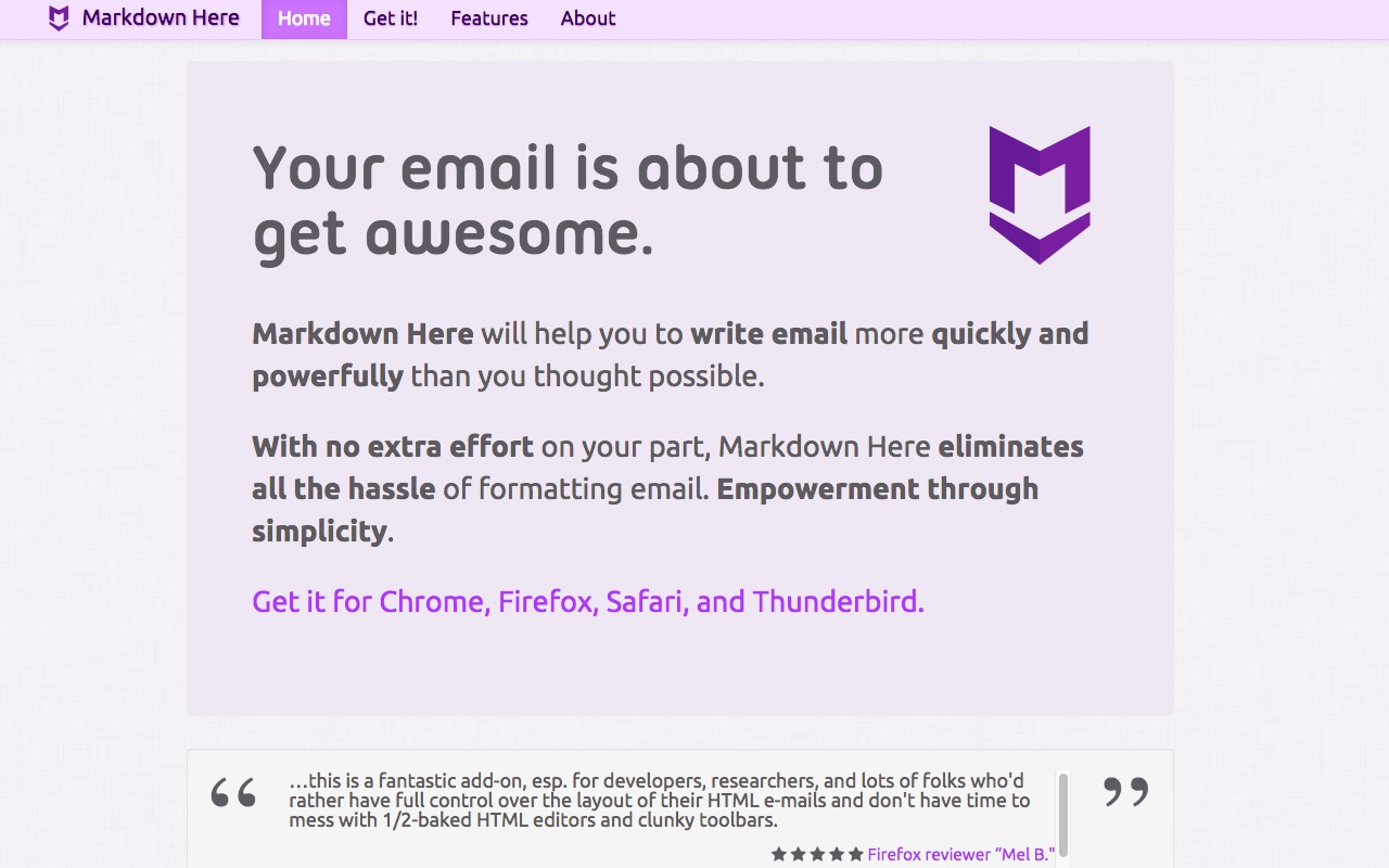 Use Markdown for your emails