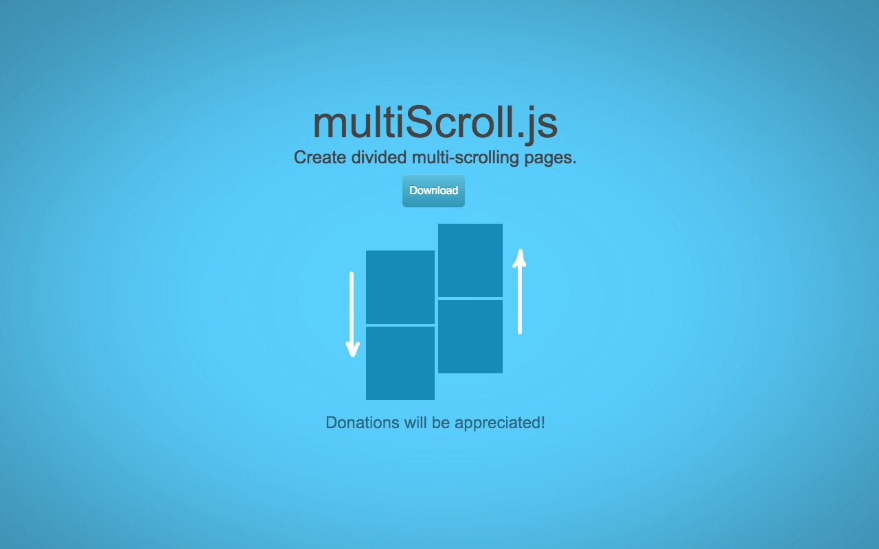 Create divided multi-scrolling pages