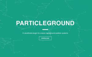 Snazzy background particle system with ParticleGround