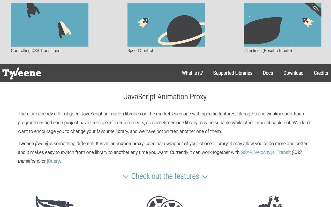 Tweene the animation proxy