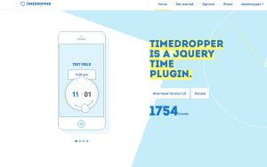 Timedropper – select time with style
