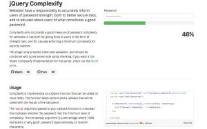 jQuery Complexify – accurately inform users of password strength