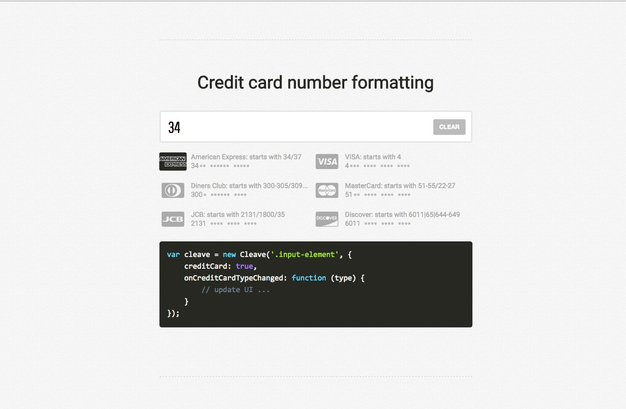 Cleave.JS formatting your input