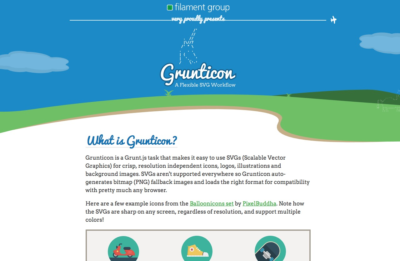 Grunticon … a Grunt.js task to make SVG usage easy