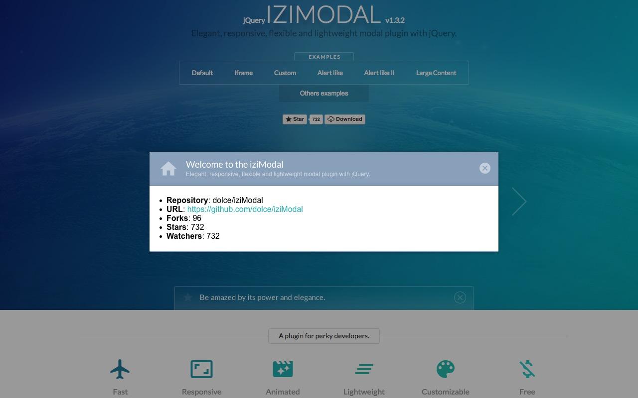 Elegant + responsive + flexible + lightweight = IZIMODAL