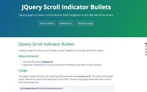 jQuery Scroll Indicator Bullets