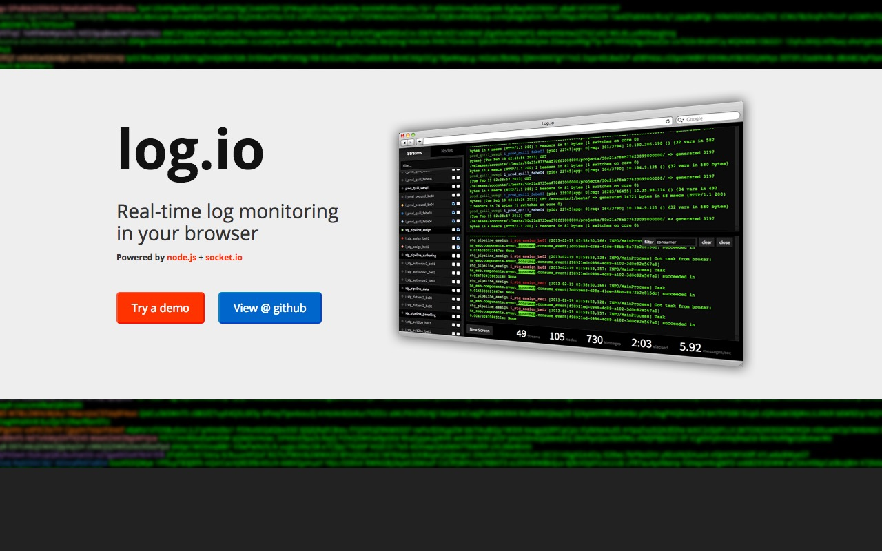 Real-time log monitoring in your browser with Log.io