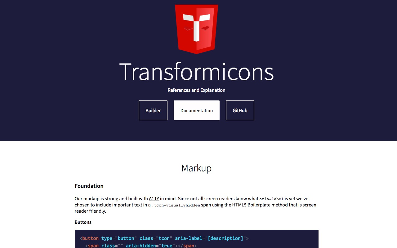 Transformicons … Animated icons, symbols and buttons using SVG and CSS