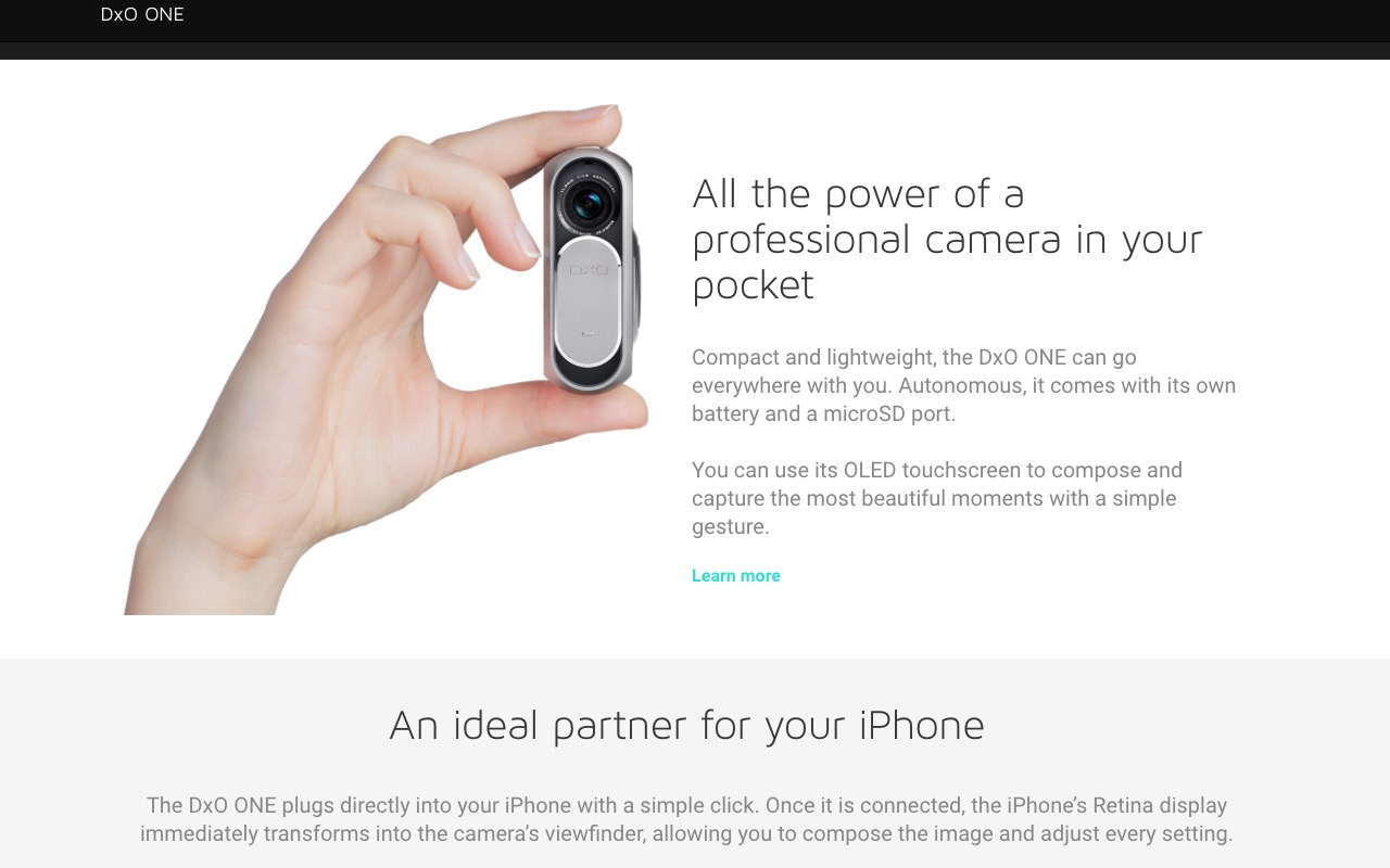 DxO One – external iPhone camera