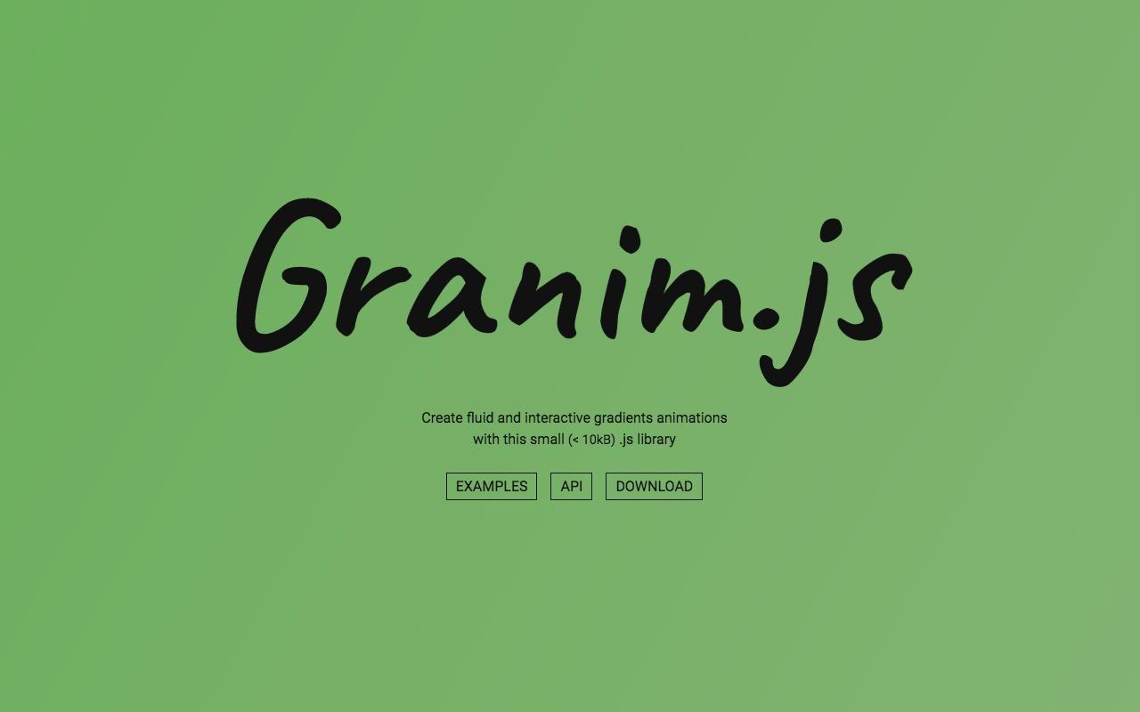 Create fluid and interactive gradients animations – Granim.js