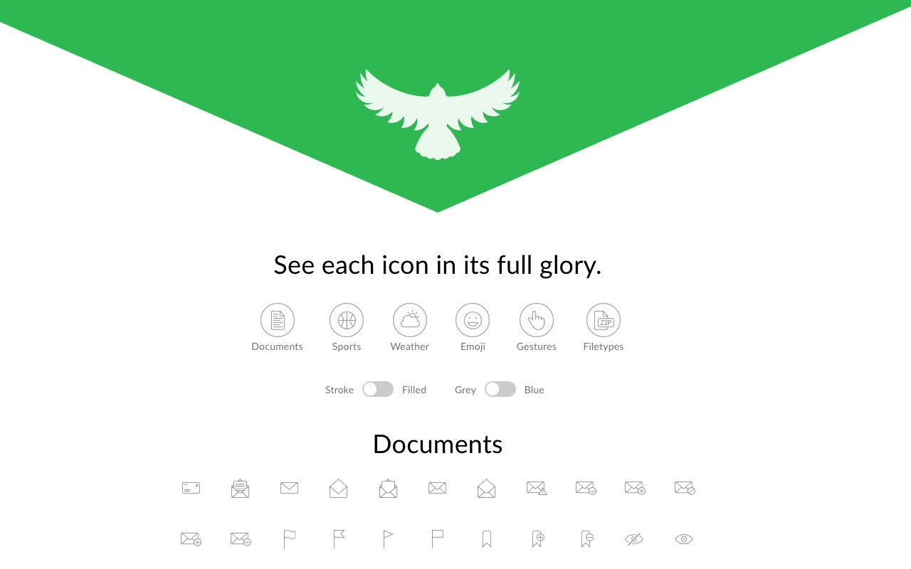 Over 500 free icons – Hawcons
