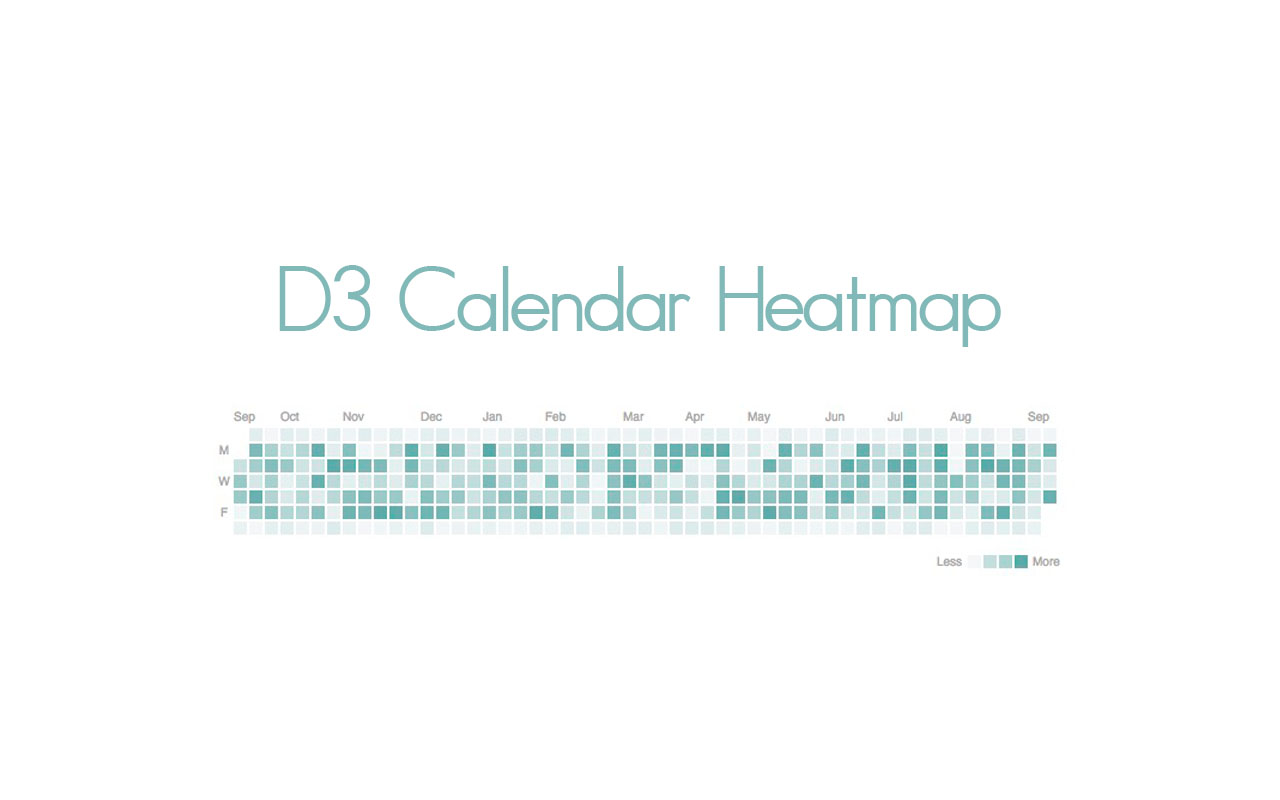 D3 Calendar Heatmap - Still summer here