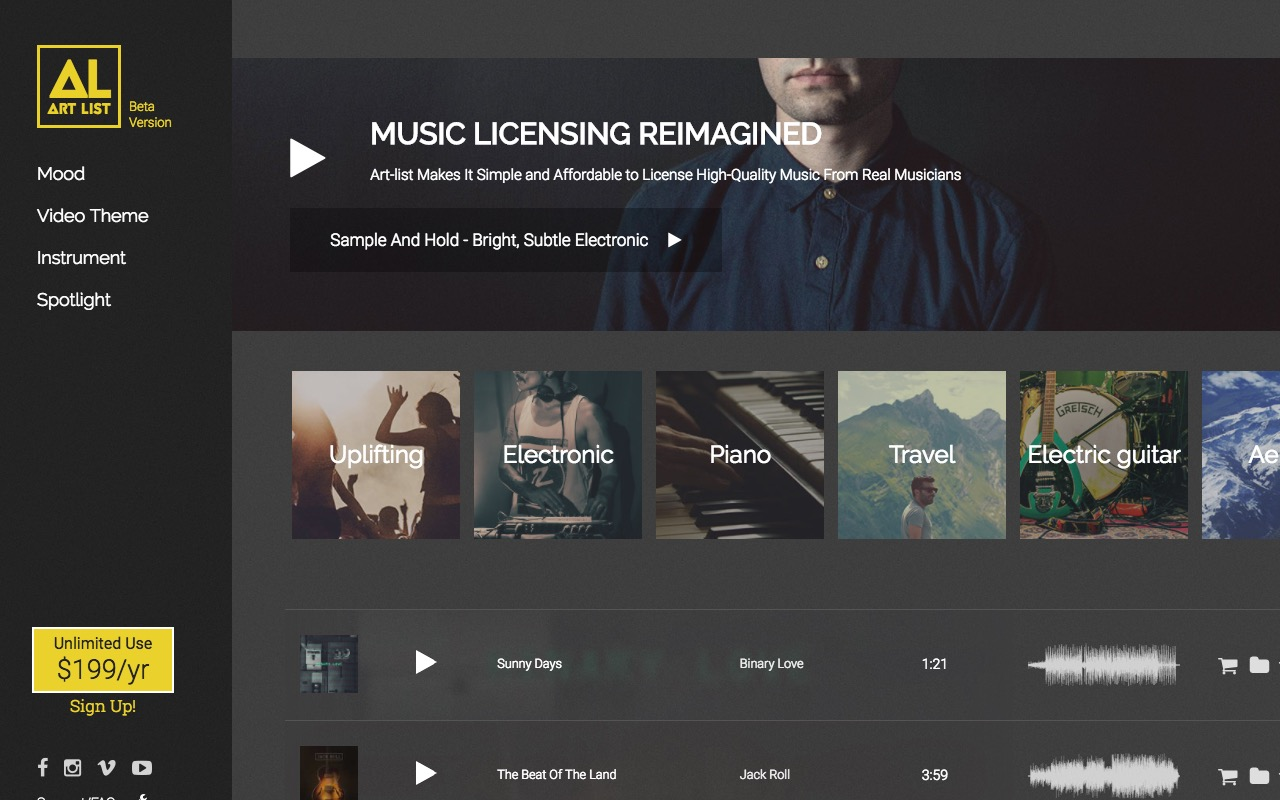 License high-quality music from real musicians