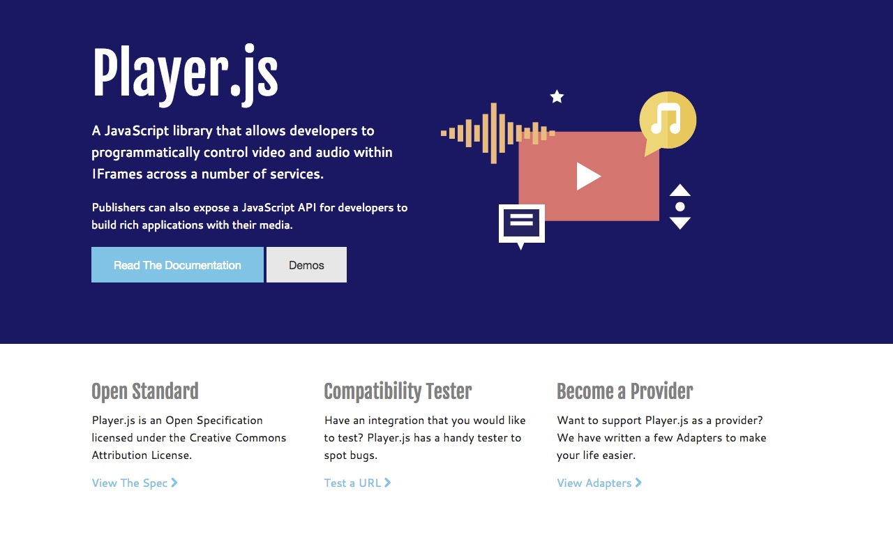 Programmatically control video and audio within IFrames using Player.js
