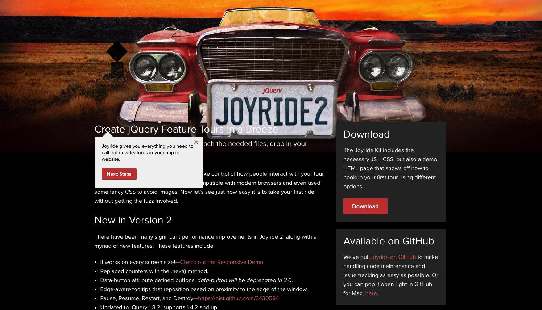 Joyride 2 – create website tour in style