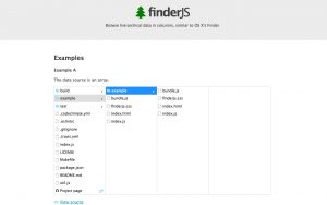 Browse tree-like data in columns, similar to OS X's file manager – FinderJS