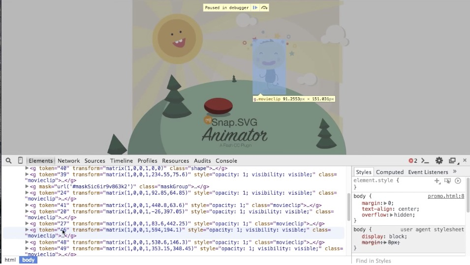Export SVG Animations for the Web with Snap.SVG Animator