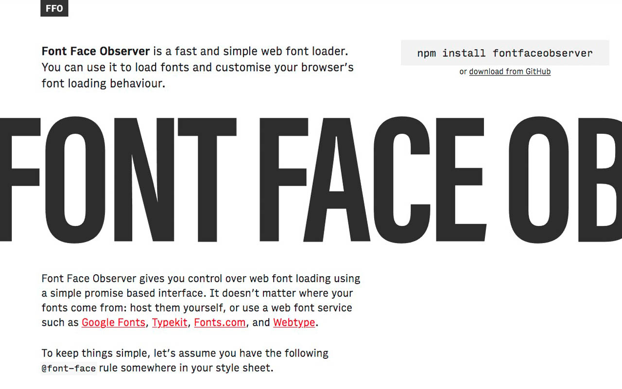 Font Face Observer … gives you a font promise ;)