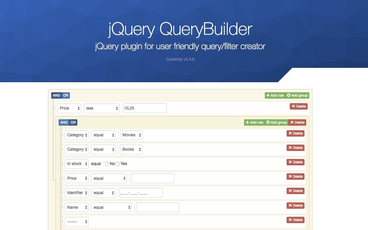 jQuery QueryBuilder