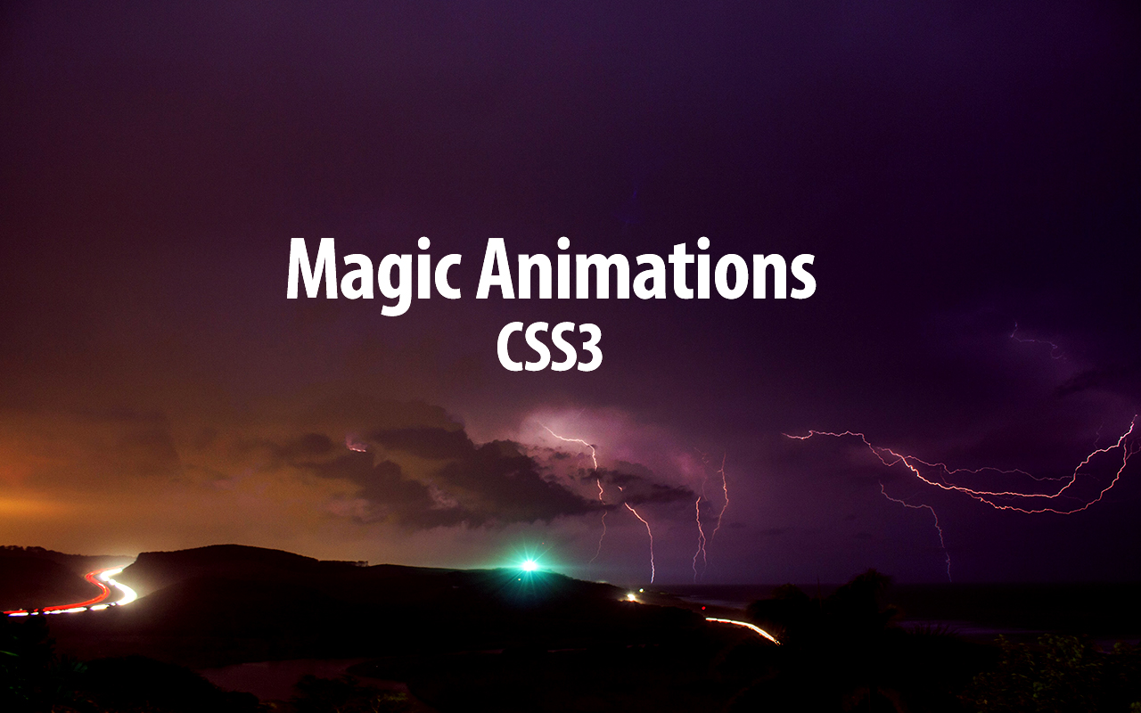 CSS3 Animations with Special Effects.