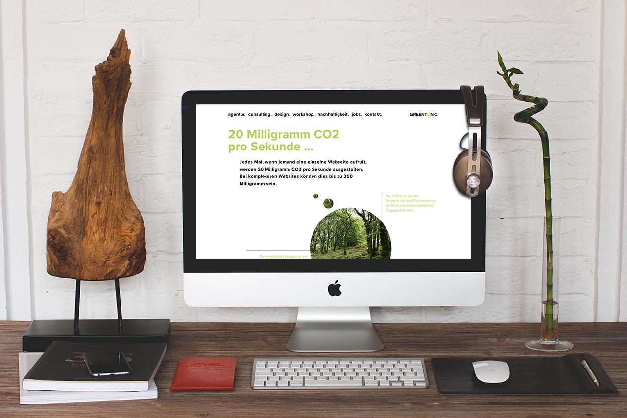 GREENTONIC – Nachhaltigkeit / Grüne Website