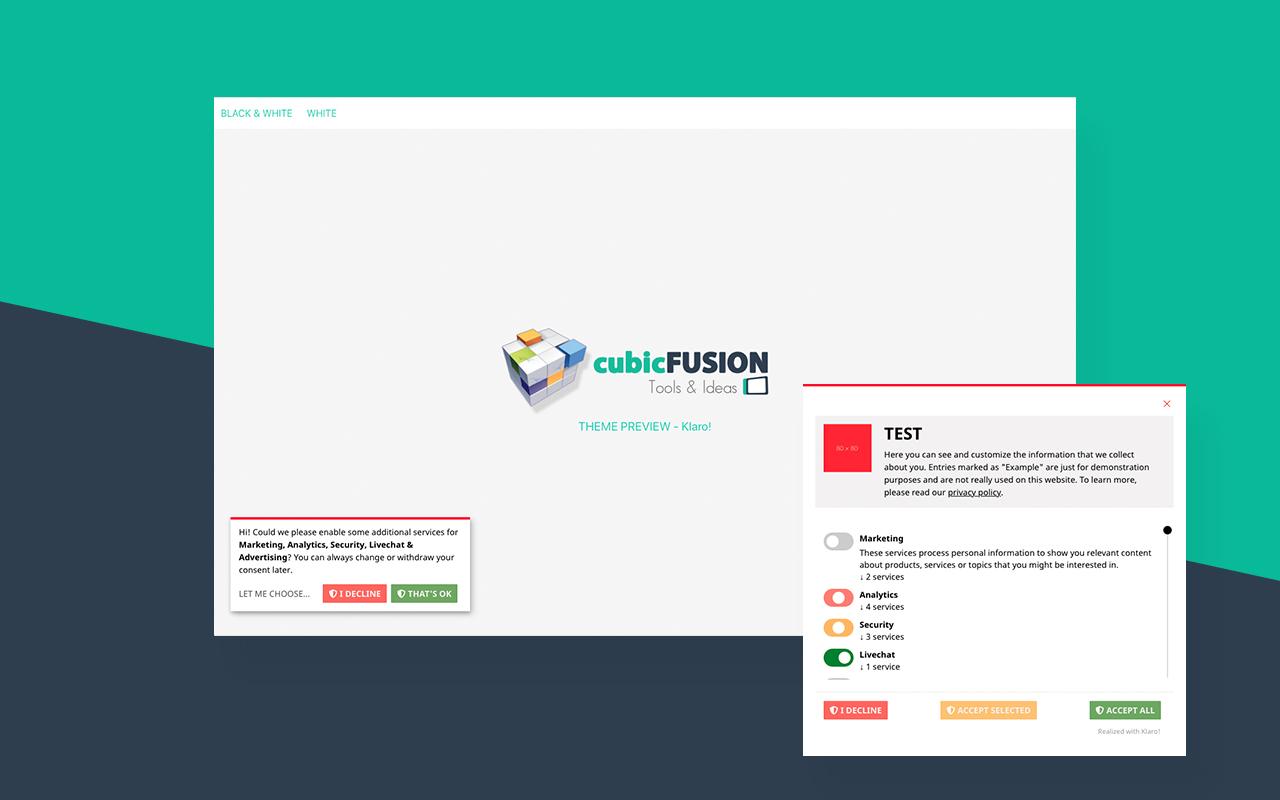 cubicFUSION Themes for Klaro!